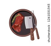 roasted beef isolated vector.... | Shutterstock .eps vector #1261031545