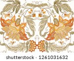 seamless pattern with stylized... | Shutterstock .eps vector #1261031632