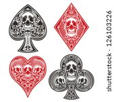 a set of ornate playing card... | Shutterstock .eps vector #126103226
