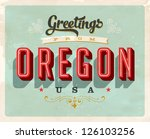 vintage touristic greeting card ... | Shutterstock .eps vector #126103256