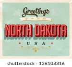 vintage touristic greeting card ... | Shutterstock .eps vector #126103316