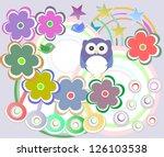 seamless pattern with birds... | Shutterstock . vector #126103538