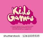 vector bright logo kids games.... | Shutterstock .eps vector #1261035535