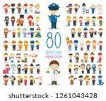 kids vector characters... | Shutterstock .eps vector #1261043428