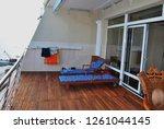 terrace in the hotel of... | Shutterstock . vector #1261044145
