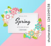 spring sale background with... | Shutterstock .eps vector #1261049158
