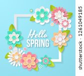 spring background with... | Shutterstock .eps vector #1261049185