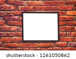 blank screen mock up on vintage ... | Shutterstock . vector #1261050862