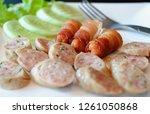 appetisers homemade little... | Shutterstock . vector #1261050868