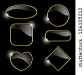 set from  gold frames on the... | Shutterstock .eps vector #126105212