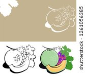 fruits icon logo concept  flat... | Shutterstock .eps vector #1261056385