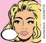 pop art woman. vintage comics... | Shutterstock .eps vector #126106715