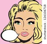 pop art woman. vector... | Shutterstock . vector #126106718