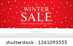 winter sale banner template... | Shutterstock .eps vector #1261093555
