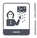 hack icon vector on white... | Shutterstock .eps vector #1261104505
