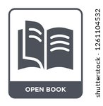 open book icon vector on white... | Shutterstock .eps vector #1261104532