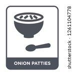 onion patties icon vector on...   Shutterstock .eps vector #1261104778