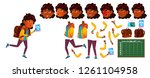 indian girl school kid. primary ... | Shutterstock . vector #1261104958