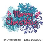 merry christmas card with... | Shutterstock .eps vector #1261106002