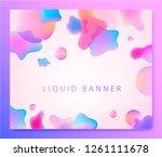 vector abstract liquid... | Shutterstock .eps vector #1261111678