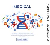 digital vector genetic... | Shutterstock .eps vector #1261113352