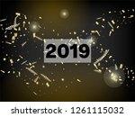 2019 christmas tinsel confetti  ... | Shutterstock .eps vector #1261115032