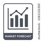 market forecast icon vector on...   Shutterstock .eps vector #1261131202