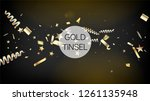 modern tinsel confetti isolated ... | Shutterstock .eps vector #1261135948
