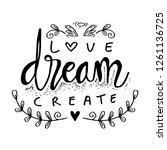love dream create.... | Shutterstock .eps vector #1261136725