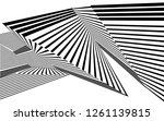 black and white stripes  lines... | Shutterstock .eps vector #1261139815