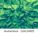 Abstract Trendy Emerald Green...