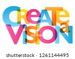 create a vision colorful... | Shutterstock .eps vector #1261144495