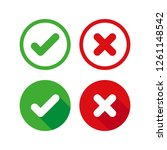 vector icons check mark and... | Shutterstock .eps vector #1261148542