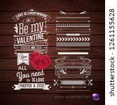 valentines day card and... | Shutterstock .eps vector #1261155628