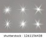 star explodes on transparent... | Shutterstock .eps vector #1261156438