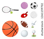 vector design of ball and... | Shutterstock .eps vector #1261159702
