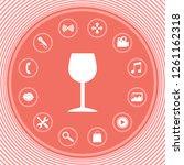 wineglass icon symbol. graphic... | Shutterstock .eps vector #1261162318