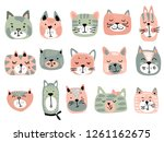 vector collection of colorful... | Shutterstock .eps vector #1261162675