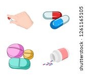 vector illustration of pill and ... | Shutterstock .eps vector #1261165105