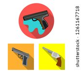 vector design of revolver and... | Shutterstock .eps vector #1261167718