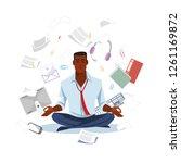 african american businessman or ... | Shutterstock .eps vector #1261169872