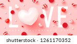 happy valentine's day.romantic... | Shutterstock .eps vector #1261170352