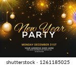 happy new year 2019 party... | Shutterstock .eps vector #1261185025