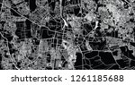 urban vector city map of mydore ... | Shutterstock .eps vector #1261185688