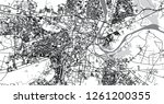 urban vector city map of agra ... | Shutterstock .eps vector #1261200355