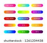 web buttons flat design with... | Shutterstock .eps vector #1261204438