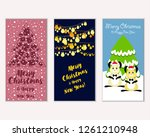 vector illustration of winter... | Shutterstock .eps vector #1261210948