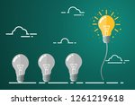 bright idea floated to the top. ...   Shutterstock .eps vector #1261219618