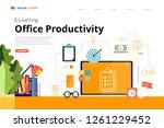 mockup design landing page...   Shutterstock .eps vector #1261229452