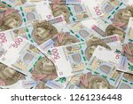 500 pln banknotes background | Shutterstock . vector #1261236448
